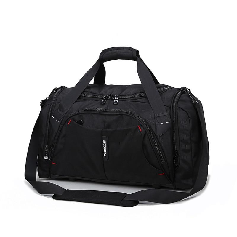 цена Men Large Capacity Fashion Luggage Travel Duffle Male Huge Journey Handbag Classic Versatile multi-function Nylon Travel Bags