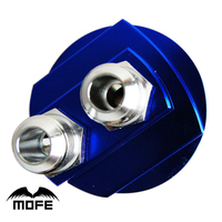 MOFE Racing High Quality Aluminum Oil Filter Cooler Plate Adapter For Oil Cooler Kit Blue