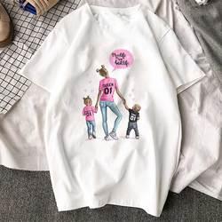 Korean Fashion Clothing 2019 New Arrival T Shirt Tee Shirt Super Mom Female T-shirt Mother's Harajuku Kawaii White Tshirt Women 4