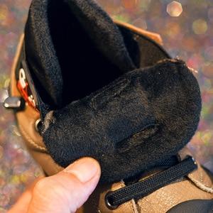Image 5 - חדש סתיו חורף בני מגפי ילדים לילדים נעלי עור אמיתי בנות אופנה קרסול מרטין אתחול קטיפה חם ריצה
