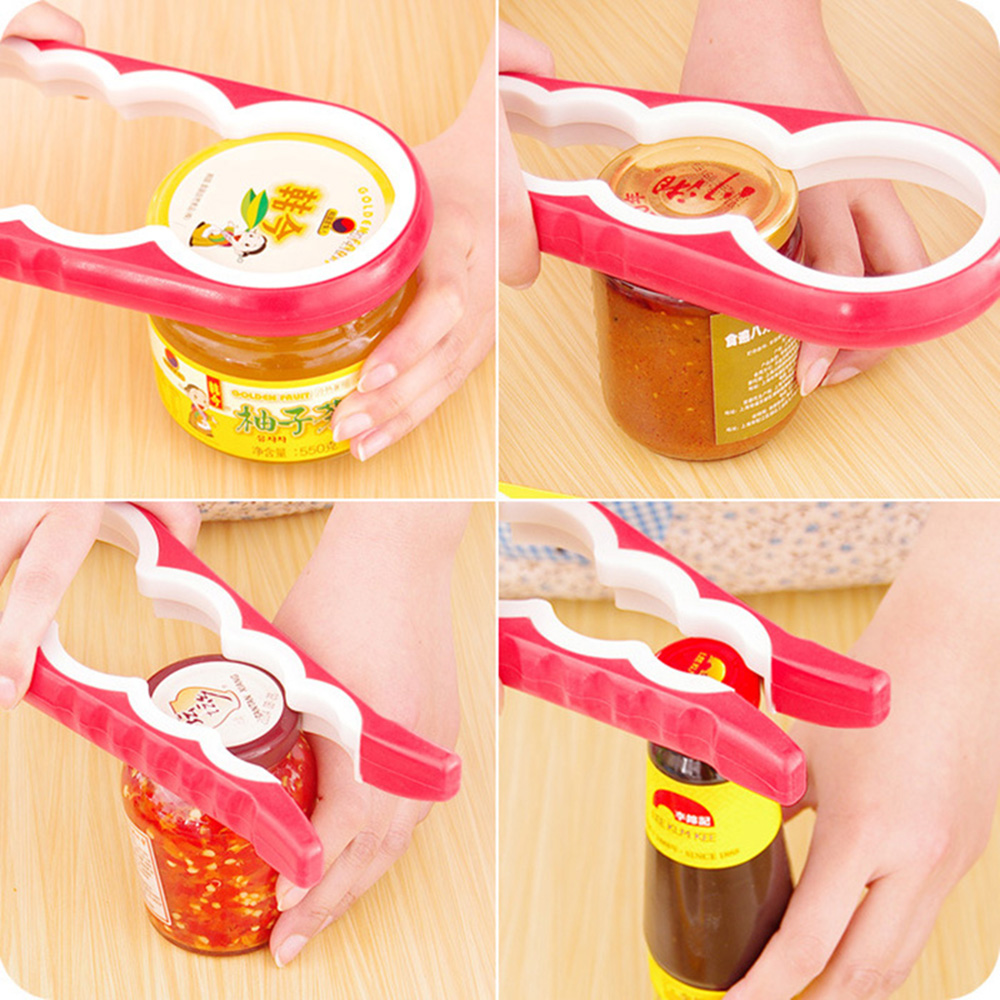 4-in-1 Gourd-shaped Can Opener Creative Multifunction Screw Cap Jar Bottle Opener Kitchen Tools Random Send Dropshipping