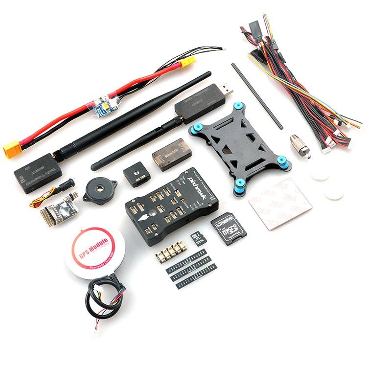 Pixhawk Autopilot PX4 Controller + NEO M8N GPS + TF Card/PPM/PM/I2C + 3DR Radio Telemetry + MiniOSD + Power Module FPV Combo Kit ormino pixhawk px4 flight controller gps m8n power module pm ppm led micro osd 3dr 915mhz 433mhz usb cable for diy fpv drone