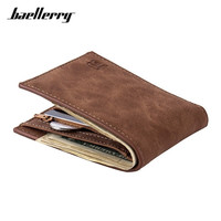 Hot Selling Classic Leather Coin Bag Zipper Men S Wallet With New Card Holder Dollar Short