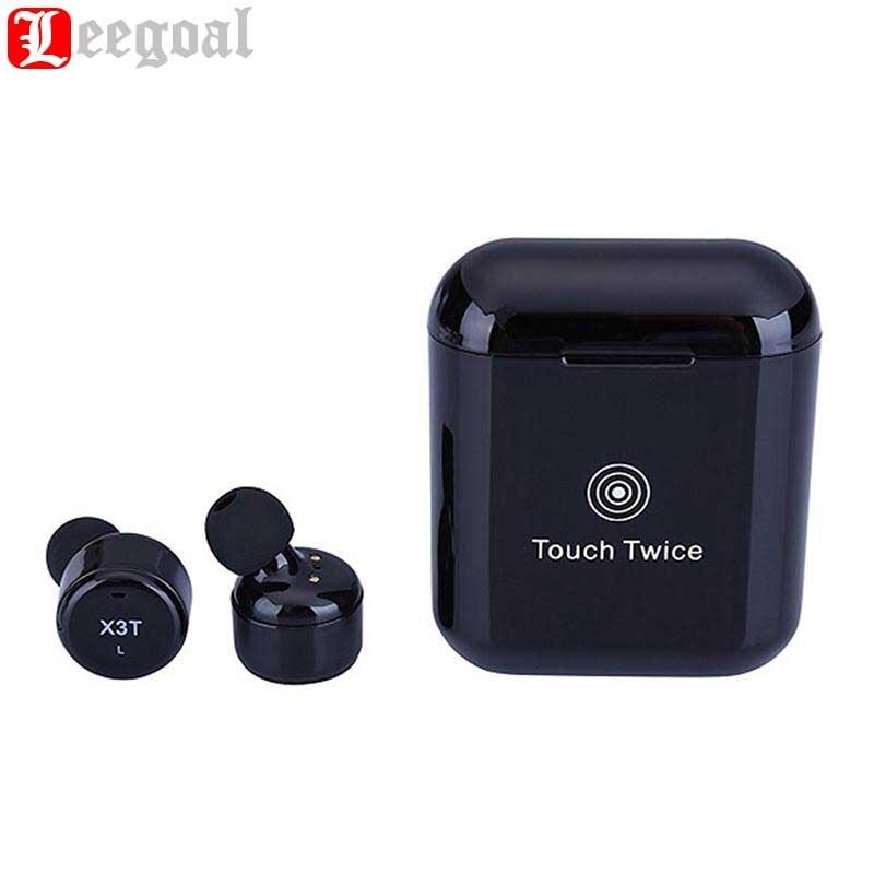 Leegoal X3T Touch Control Vero Wireless Auricolari Bluetooth Auricolare Mini Auricolari Sportivi Con Custodia di Ricarica per I Telefoni Intelligenti