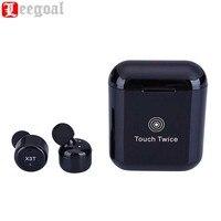 Leegoal X3T Touch Управление True Беспроводной Bluetooth наушники мини спортивные наушники с зарядный чехол для смартфонов