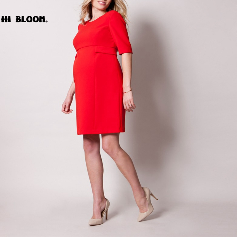 34b559f86dc2e US $31.99 40% OFF|Happy Maternity Dresses for Pregnant Women Formal Working  Dresses Evening Party Elegant Dress Pregnancy Clothing Vestidos-in Dresses  ...