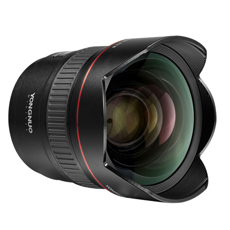 New  Yongnuo Lens YN14mm F2.8 AF MF autofocus Ultra-wide Anglr Prime Lens for Canon 5D Mark III IV 6D 700D 80D 70D Camera