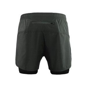 Image 2 - ARSUXEO męskie spodenki do biegania 2 w 1 szybkie suche spodenki sportowe trening lekkoatletyczny krótkie spodnie do ćwiczeń spodenki gimnastyczne ubrania do ćwiczeń B179