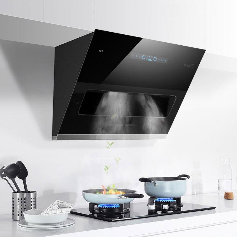 800mm Home Range Hood Stainless Steel Smoke Exhaust Side Suction Kitchen Hood Ventilator CXW-380-D808N