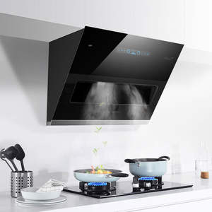 Stainless-Steel Ventilator Hood Exhaust-Side-Suction Kitchen Smoke 800mm Household-Range