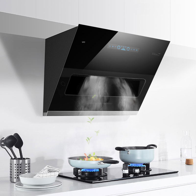 Kitchen Exhaust Hood 800mm Household Range Hood Stainless Steel Smoke Exhaust Side Suction Kitchen Hood Ventilator CXW-380-D808N