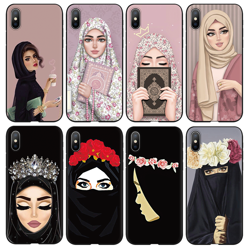 Back To Search Resultscellphones & Telecommunications Phone Bags & Cases Muslim Islamic Gril Eyes Arabic Hijab Girl Phone Case Cover For Iphone X 8 8plus 7 7plus 6 6s Plus 5 5s Se Black Protector Shell Less Expensive