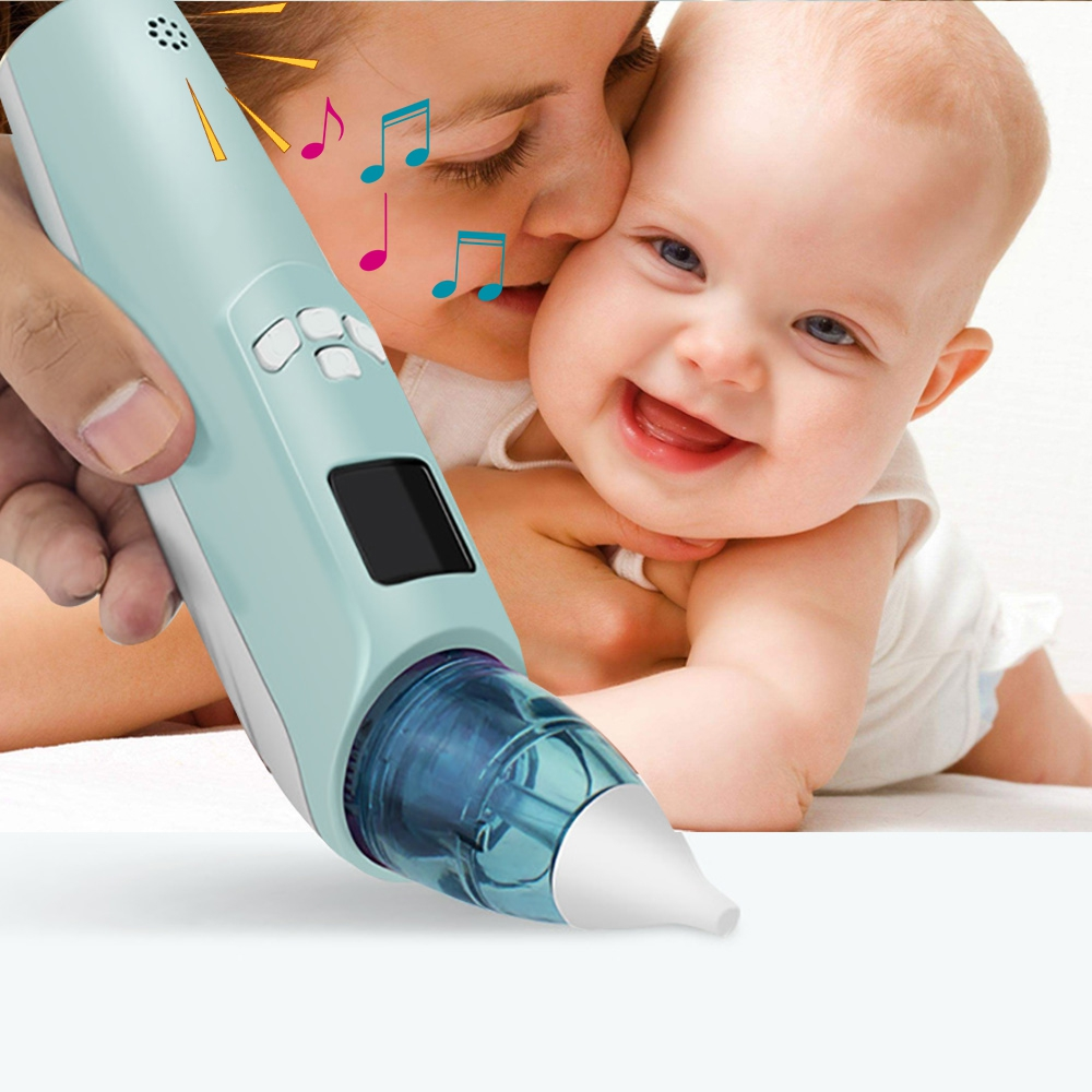 New Durable Baby Electric Nasal Aspirator Handle Nose Snot Cleaner Suction safe for Newborn Infant Toddler LCD display Low noise