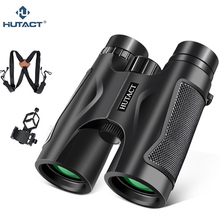 HUTACT 10x42 Binoculars For Hunting Professional Teleskop Handheld Binoculo Telescopio Optical Handy Bird Watching Phone Adapter