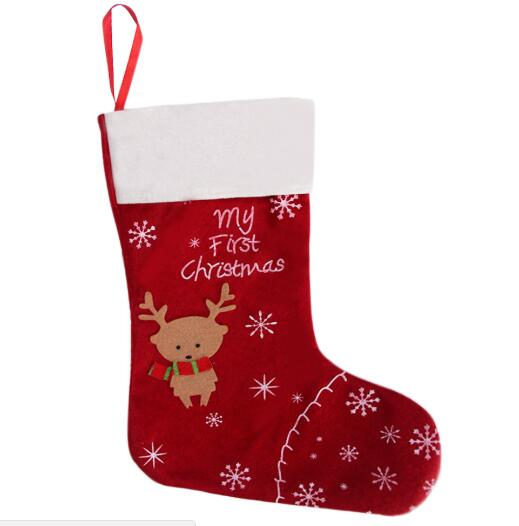 gift for new year 2017 christmas decor party decorations deer christmas stocking candy socks christmas gifts bag for home in stockings gift holders from