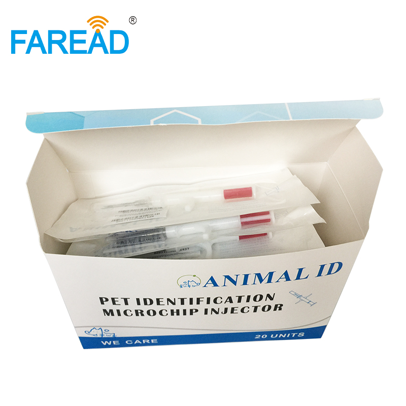 Free Shipping X40pcs Customized Box(20pack) ICAR 2.12x12mm FDX-B Implanted In Dog Cat Pet For Veterinarian