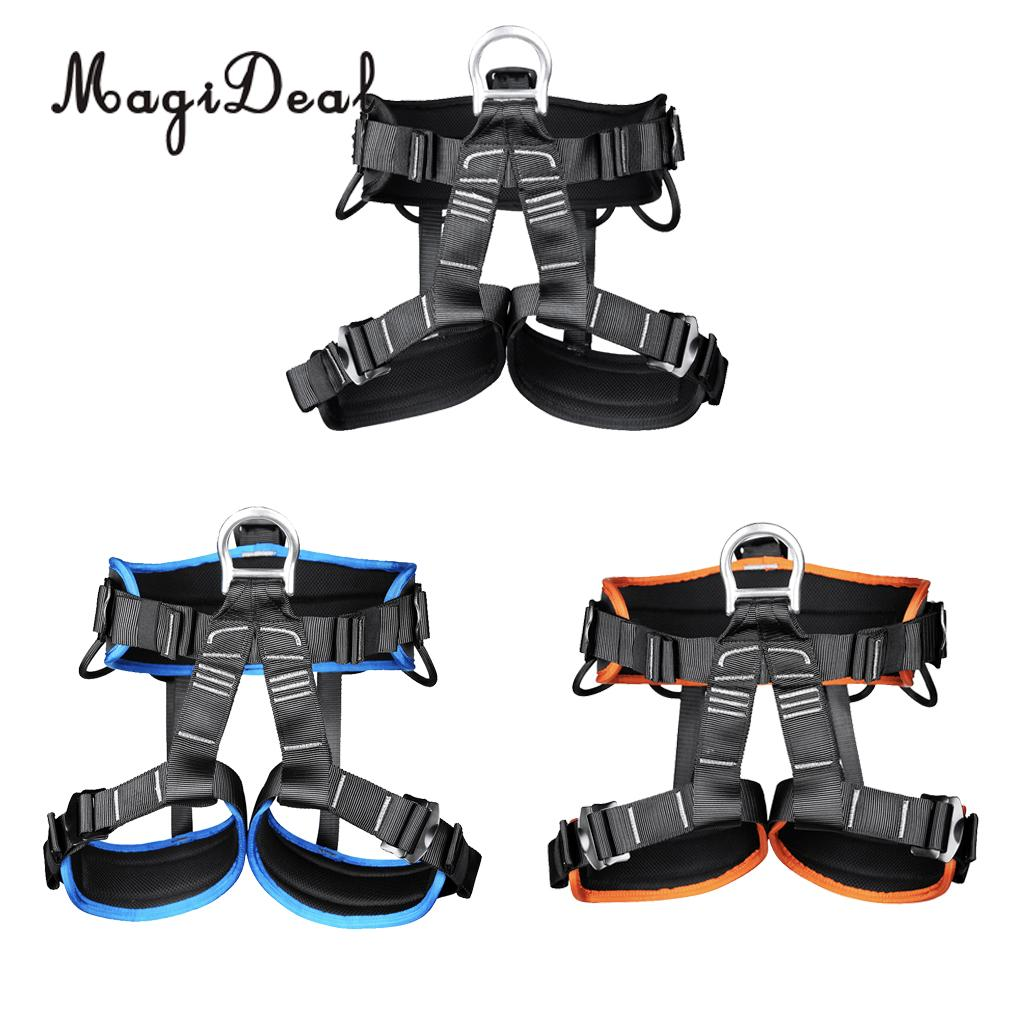 MagiDeal Safety Climbing Harness Seat Sitting Bust Belt for Mountaineering Rescuing Rock Climbing Rappelling Tree Climbing full body outdoor rock tree climbing rappelling mountaineering safety seat bust sitting belt harness protection gear