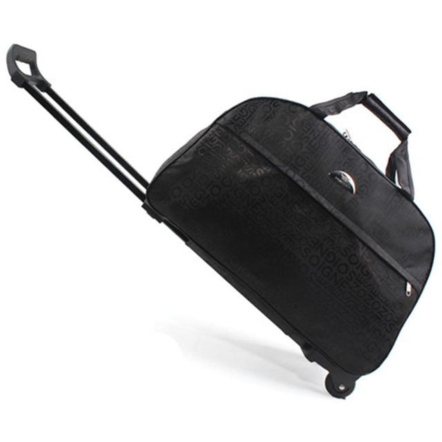 6fc52977bfb0 Чемодан на колесах Новый 2018 металлическая Сумка-тележка женские дорожные  сумки ручная тележка унисекс сумка
