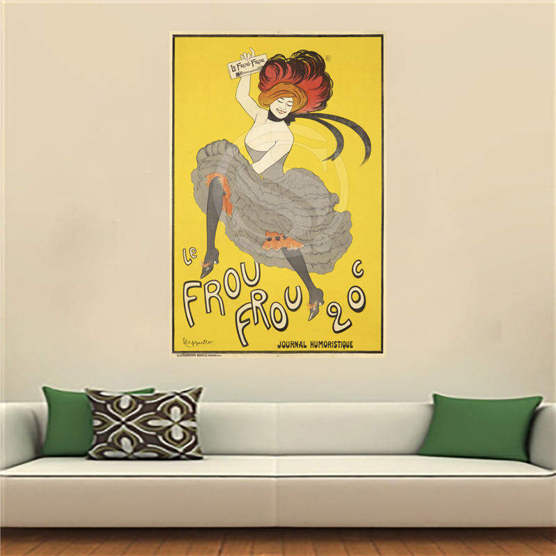 WJY510N25 art nouveau poster Satin Painting Wall Silk Poster cloth ...