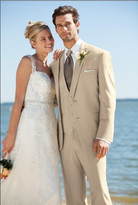 Marka Yeni Damat Smokin Custom Made Groomsmen Notch Yaka Düğün / - Erkek Giyim - Fotoğraf 1