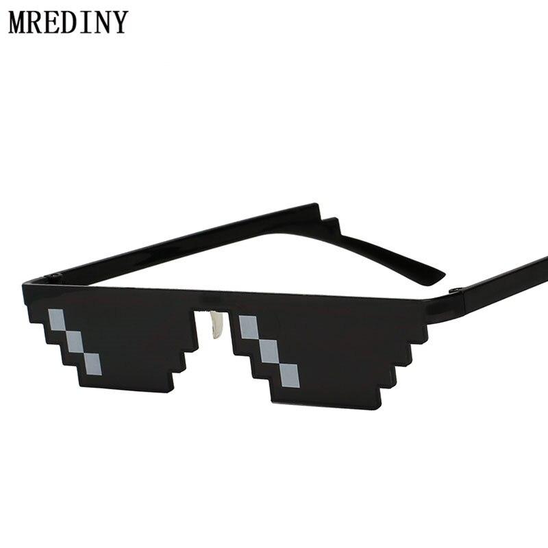 Unique Vintage lunettes de Soleil Hommes Cool Puls Taille 8 Bits Pixel Avec Plaquettes Lunettes De Soleil Mosaïque Lunettes de Soleil Hommes Femmes