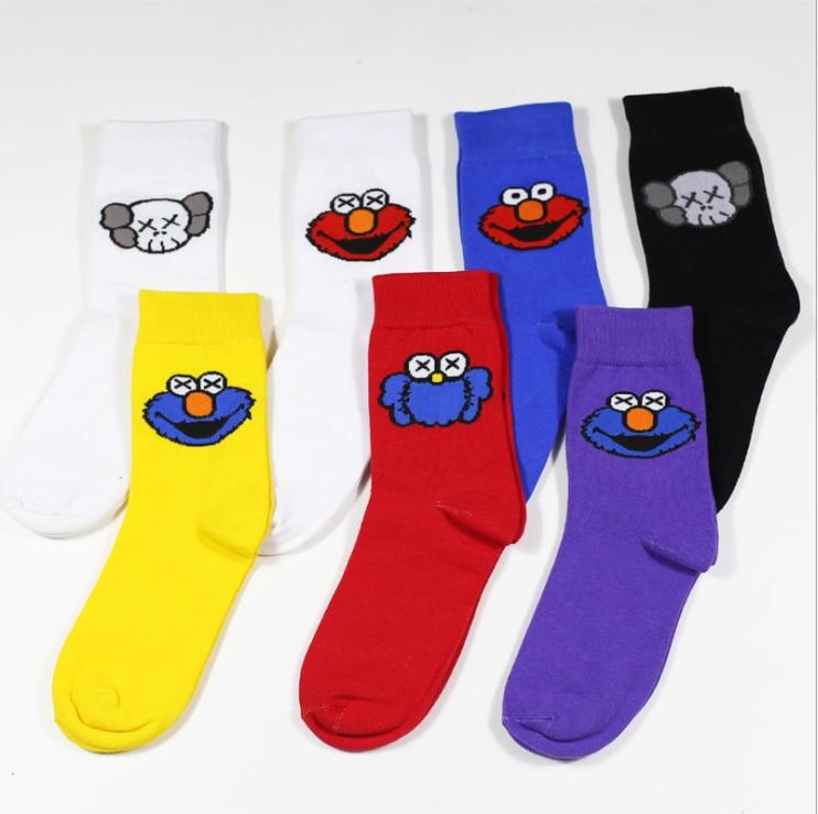 Unisex Skateboard hiphop American astronaut logo series letters cotton sports   socks   Male and female couple Funny Cartoon   Socks