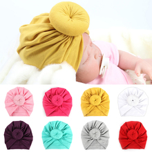 Fashion Donut Baby Hat Girl Turban Candy Color Kids Cap Girls Boys Beanies Children Hats Newborn Photography Props