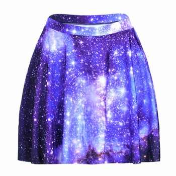 S To 4xL Sexy Blue Galaxy Paisley Women's Summer Skirts Womens Above Knee Mini Skater Skirts Plus Size 3 Patterns 1