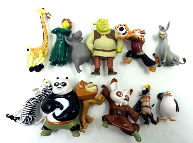 4 7 5cm 12pcs lot original anime figure movie shrek action figure set collectible model font