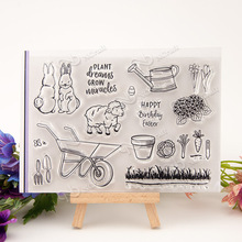 pasture Transparent Clear Silicone Stamp/Seal for DIY scrapbooking/photo album Decorative clear stamp A204