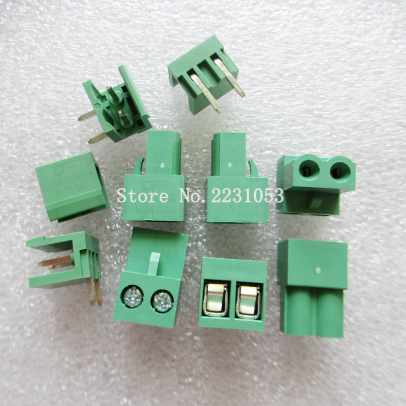 10sets ht5.08 2pin Right angle HT508-2P Terminal plug type 300V 10A 5.08mm pitch connector pcb screw terminal block connector W 10 sets 5 08 2pin right angle terminal plug type 300v 10a 5 08mm pitch connector pcb screw terminal block free shipping