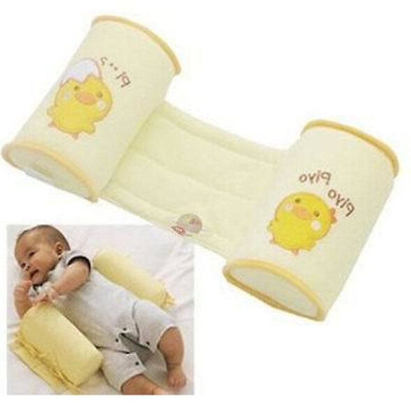 Comfortable Cotton Baby Pillow Shaping Pillow finalize baby design Yellow chicken cartoon Prevent Side positions