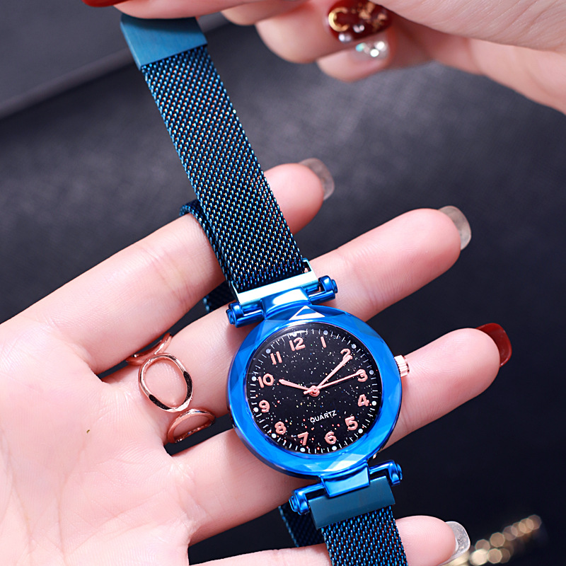 Fashion Starry Sky Wrist Watch Children Watches Casual Stainless Steel Dress Quartz WristWatch Gift For Girls Relogio Infantil