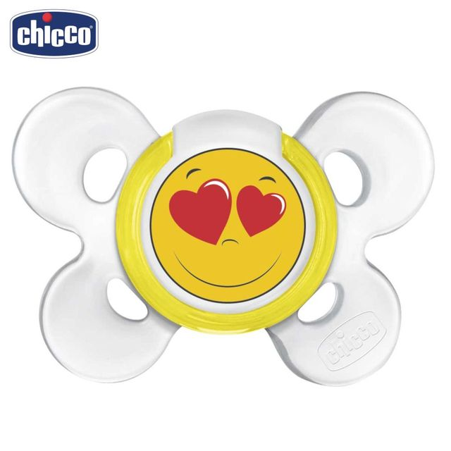 Пустышка Chicco Physio Comfort Smile, 1 шт., 0-6 мес., силикон