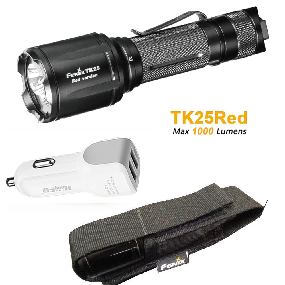 TK25Red Fenix TK25 Red Version Cree XP-G2 S3 & XP-E2 Red LED's Dual Lighting Hunting Flashlight for Most Tactical Demands стоимость