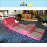 DEETONE 350cm*110cm*10cm 1set Inflatable Tumble Track Trampoline Air Track Taekwondo Gymnastics Inflatable Air Mat
