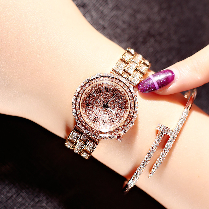 LGXIGE Luxury Rose gold Watch Women rhinestone Wristwatch Ladies Clock Fashion Bracelet Watches reloj mujer relogio feminino kimio brand bracelet watches women reloj mujer luxury rose gold business casual ladies digital dial clock quartz wristwatch hot page 2
