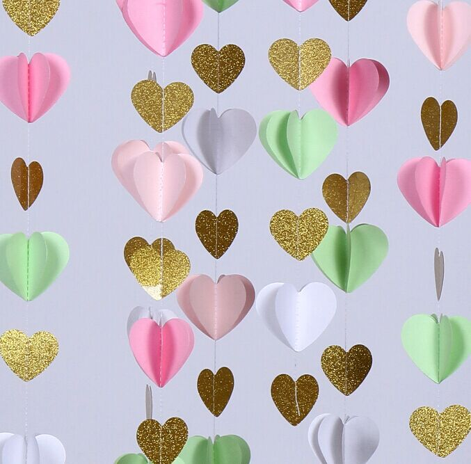 Pink And Gold Glitter Baby Shower Decorations