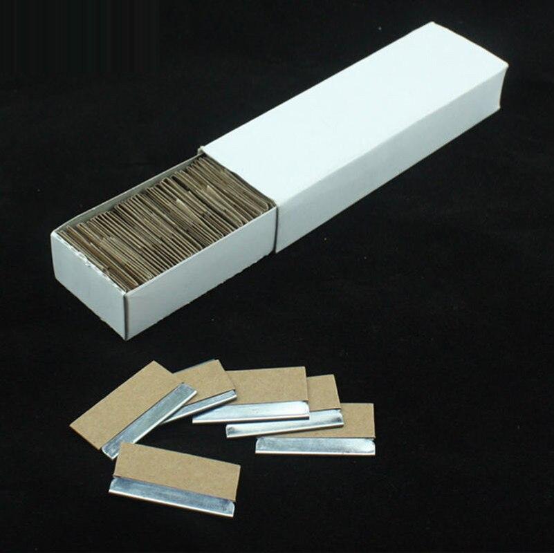 2.2*3.9 см Детская безопасность Скребки Ножи Бритвы лезвия двойной клей снятие Бритвы лезвия для оклеивание 100- лезвие/коробка
