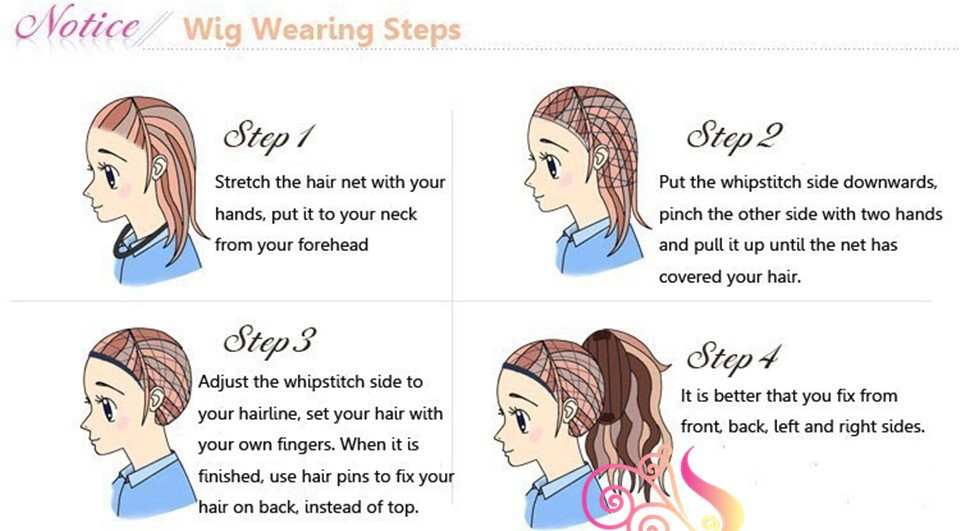 how to wear wig 1step