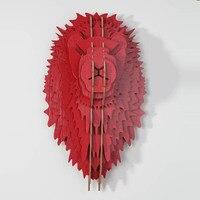Nodic DIY деревянная голова льва для декора стен, резьба по дереву деревянные скульптуры, Декор, головы животного, декоративные предметы, лев Ук