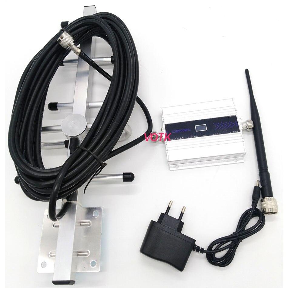 Amplificateur de signal GSM pour téléphone portable répéteur de signal GSM amplificateur de signal GSM 900 MHZ avec affichage LCD yagi ensemble complet