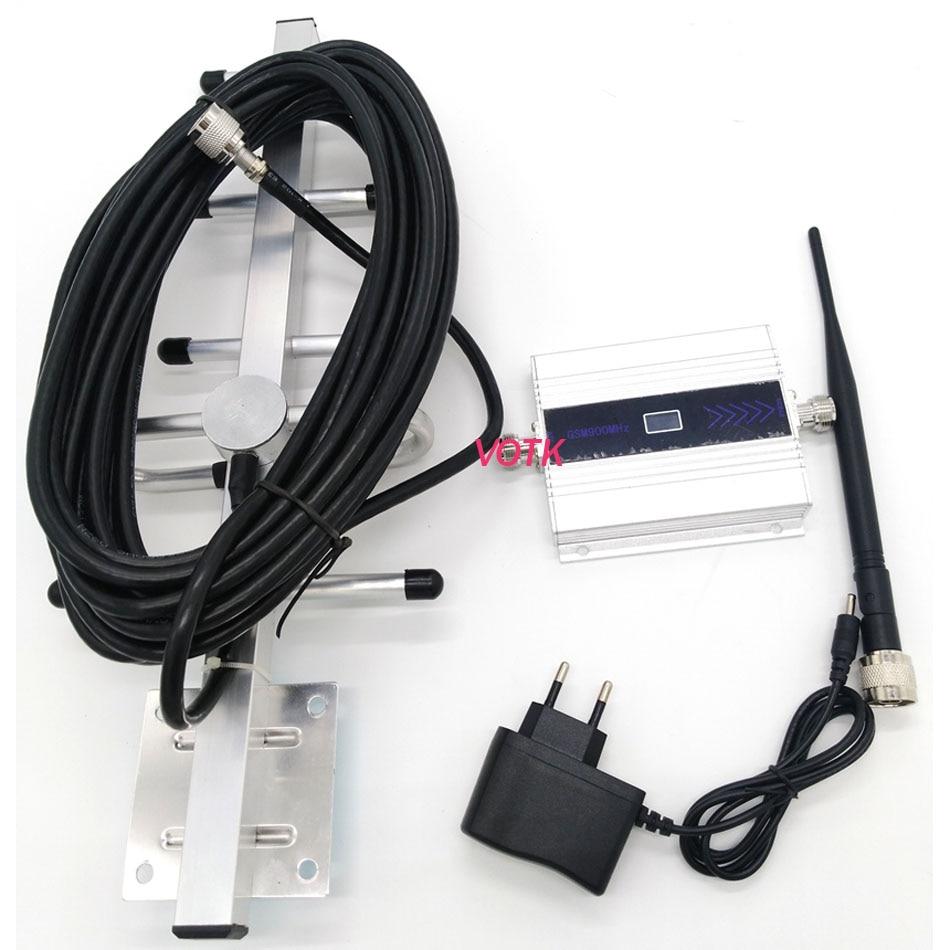Mobiele Telefoon Gsm Signal Booster Gsm Signaal Repeater Mobiele Telefoon Gsm 900 Mhz Signaal Versterker Met Lcd Display Yagi Volledige set