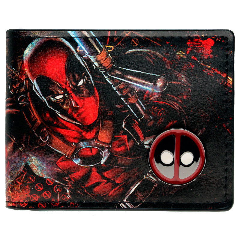 Deadpool wallet animated cartoon fashion brand purse Young boys and girls purse personality Man purse DFT-1108 все цены
