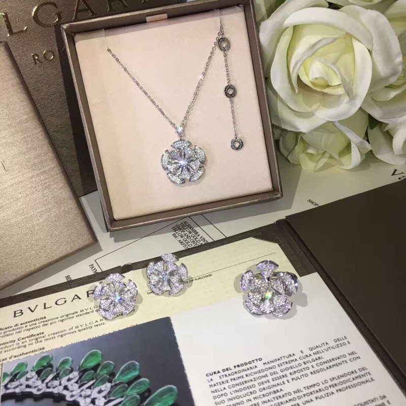 hot sell 925 sterling silver flower necklaces pendants with high