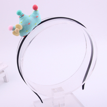 Fashion Newest Hand Making Fabrics Hair Accessories Cotton Filling Tiaras Hairbands Charms Crown Hairpins For Children Headwear