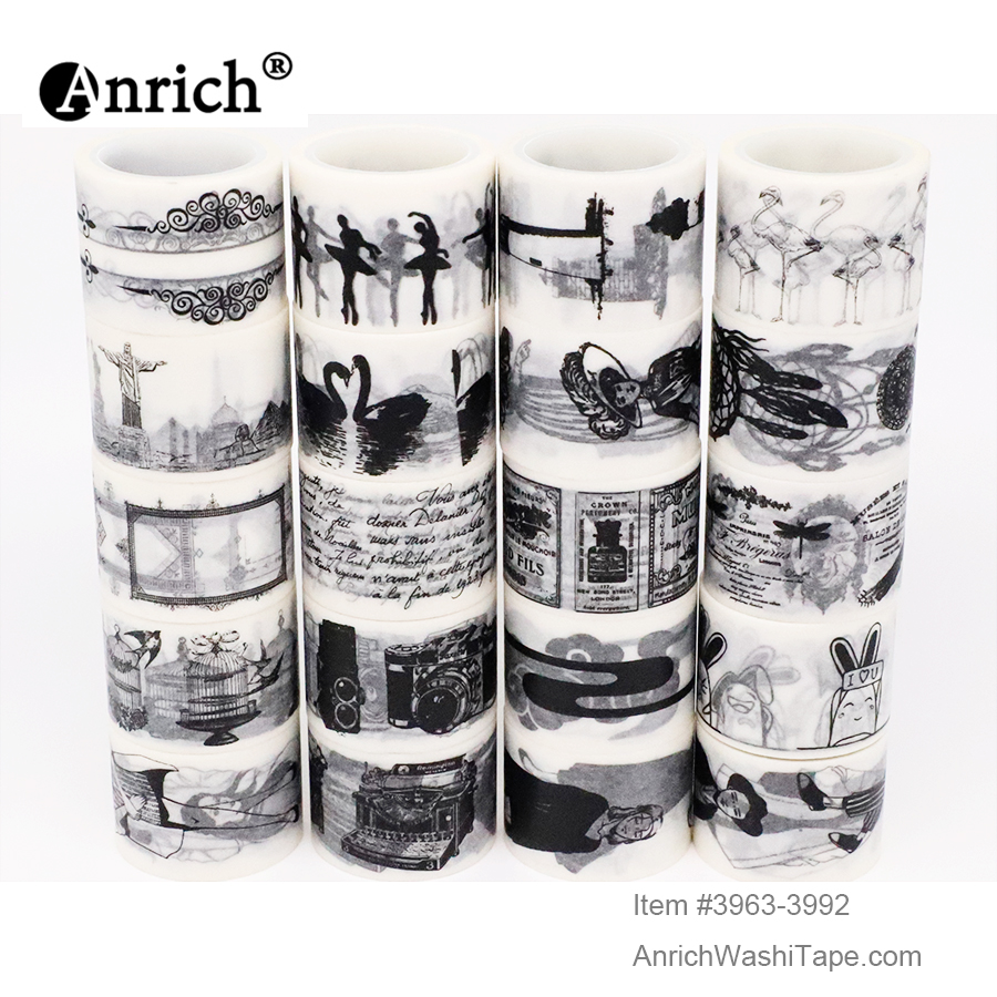 Free Shipping And Coupon Washi Tape,Washi Tape,basic Design,Optional Collocation,on Sale,#3963-3992