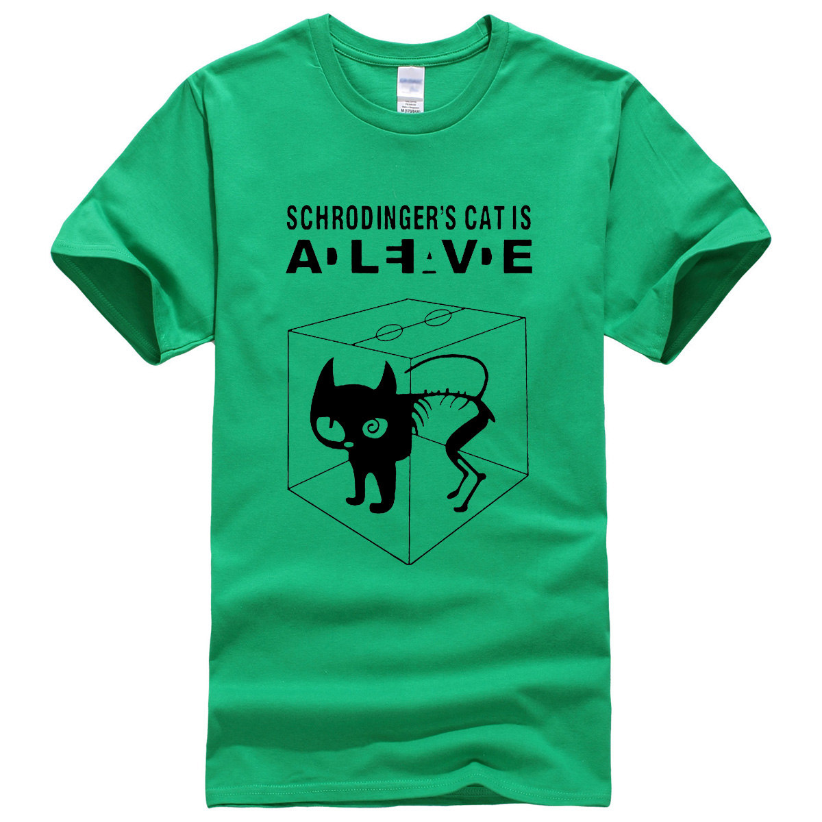 The Big Bang Theory Schrodingers Cat mens T-shirts pattern 2018 summer fashion casual t shirt streetwear hip hop brand top tee