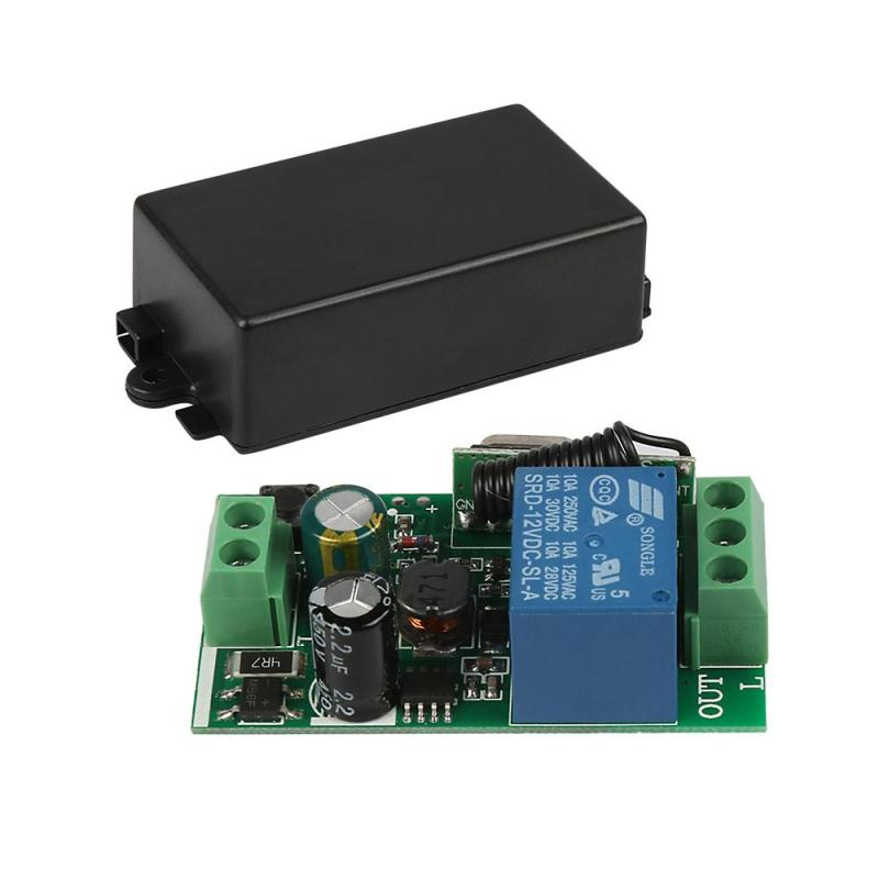 QIACHIP 433Mhz Wireless Remote Control touch Switch AC 110V 220V 1CH Relay Receiver Module and RF 433 MHZ Remote Control H4