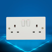 UK Standard 13A Switched Socket Wall pad White Color 110v-250V 146*86mm Button Switch and Free Shipping